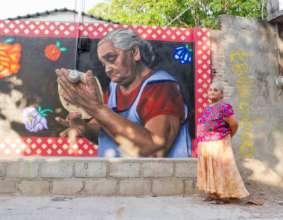 Una Mano para Oaxaca - baker's mural
