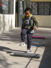 Miguelito enjoys exercise
