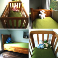 Our beds and cribs / Nuestras camas y cunas