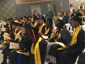 Graduation day at PECES' alternative high school