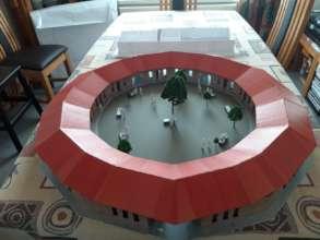 Kimbilio Primary School model with roof