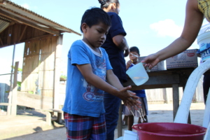 Hand washing demonstration