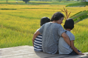 Foster mother and foster children