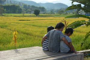Foster family in Chiang Mai province, Thailand