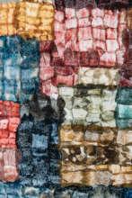 Team designed mosaic silk