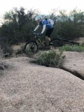 Jeff shredding miles for rhinos