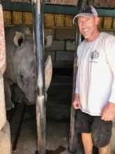 Jeff and Jericho the rhino