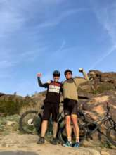 Jeff Harrison and Dr. James riding