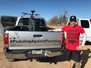 Jeff and the Pedaling Against Poachingmobile