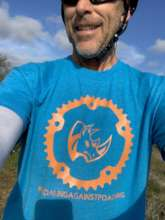 Jeff in a sweet Pedaling shirt! Get one today!