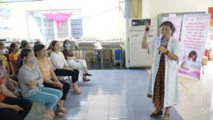 A communications session at Sin Joo Bo company