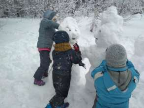 Making snowmen together