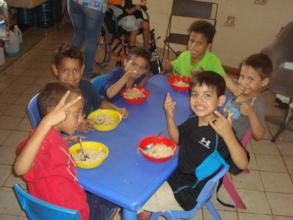 Orphan boys enjoy nutritious lunch courtesy of SAI