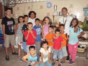 Venezuelan orphans gather for pre-lunch photo!