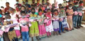 Children are happy with new dresses
