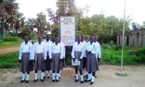 Girls in the formation at Home Economics Institute