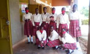 Girls before their lecture room
