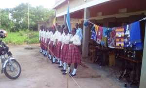 Girls express country's patriotism after election