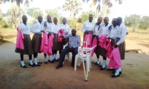 Girls & project Leader display their skillfulness