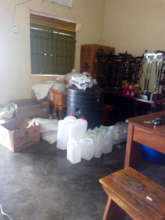Material for making liquid soap in the store
