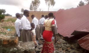 KIFA team visit the fallen community Hall