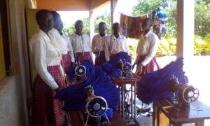 School uniform made by girls in 2 weeks' training