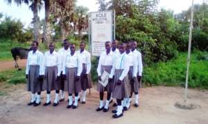 The 10 girls at the Home Economics of KIFA
