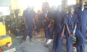 Potential Engineers at their training workshop