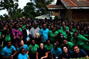 MedTreks Team with the 200 Community Health Vol