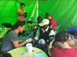 MedTreks at Pop-Up Market clinic with HopeCore