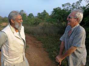 Dr. R. Singh with Joss Brooks, field visit