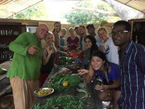 Krishna McKenzie (l) Food & Natural farming team
