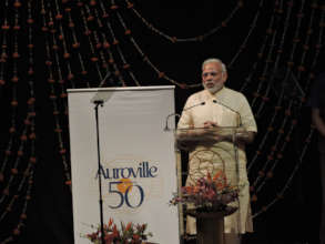 PM of India Mr. Modi at Auroville`s 50th birthday