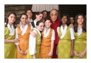 Dalai Lama  and the children`s choir
