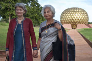 Unesco director I. Bukova visits Auroville