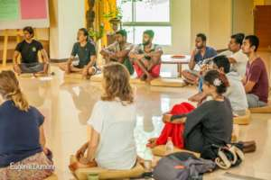 Young people exploring Auroville