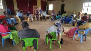 Participants in a trauma healing workshop.