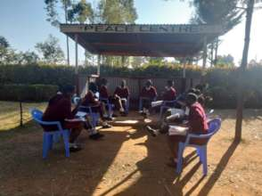 Students at their peace centre built by Amani club