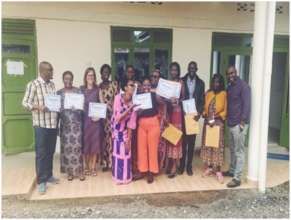 Group photo with certificates