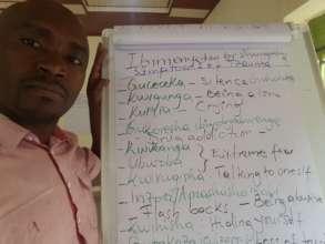 Use of English and Kinyarwanda.