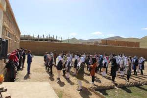 Students at Rahnaward Receiving Instructions