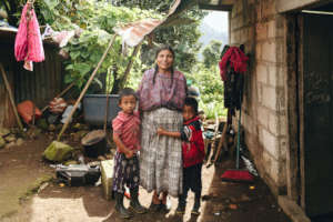 Maria and her sons, another stove recipient!
