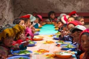 Children at the Lunch Program