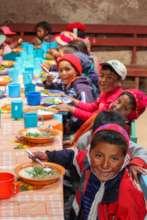 Children eating at the Lunch Program
