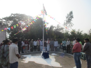 celebration of Republic day with the inmates