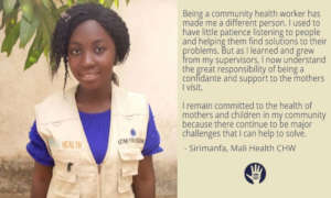 Sirimanfa is a Mali Health Community Health Worker