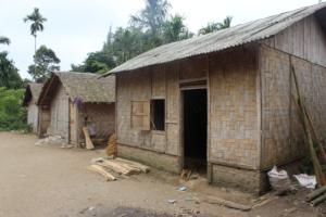 one of simple mud floor households of the village