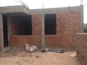 Competion of bricking of ground floor.
