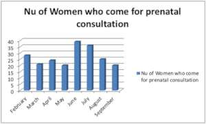 Number of women attending the prenatal clinic.