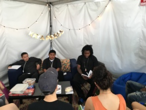 Daniel performs at the LA Times Book Festival